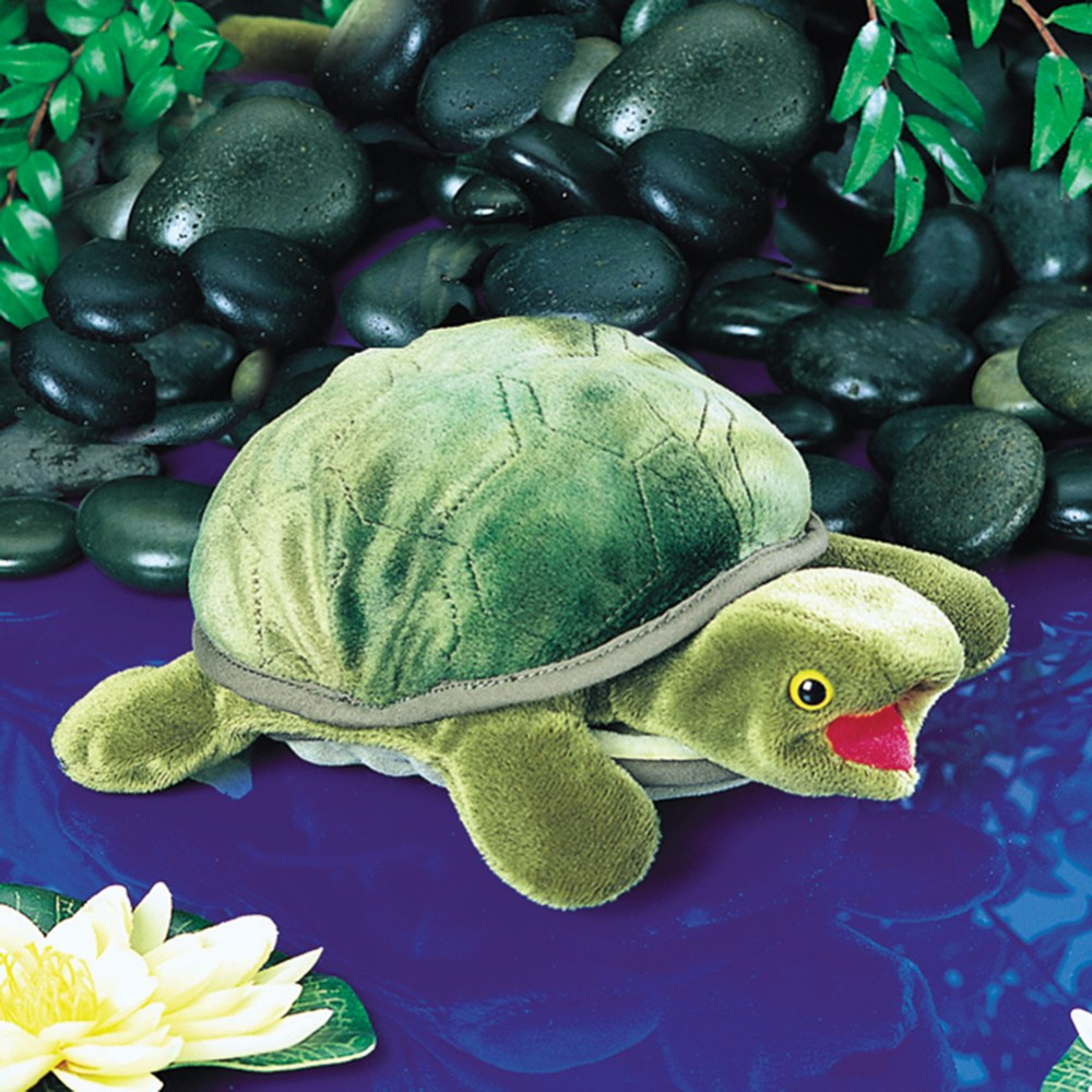 Alternate Image #1 of Baby Turtle Hand Puppet
