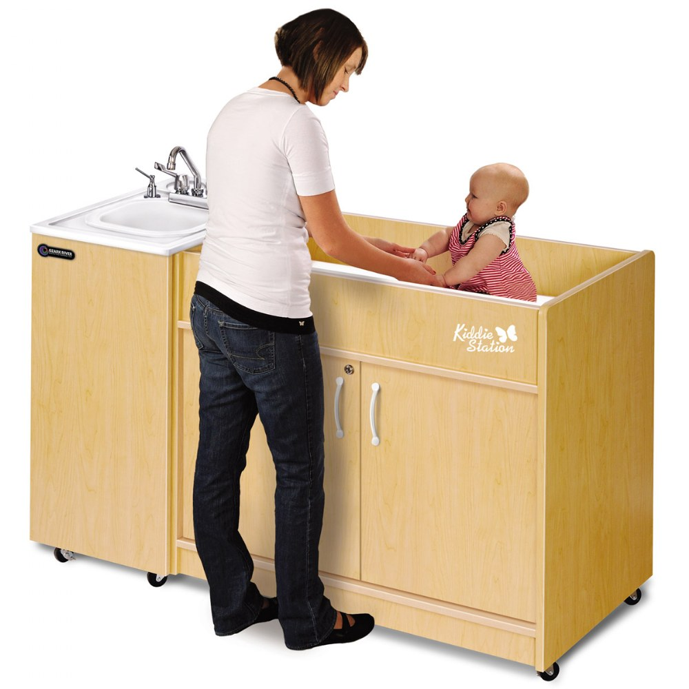 Alternate Image #1 of Kiddie Station - ABS Sink Top and Diaper Changing Station