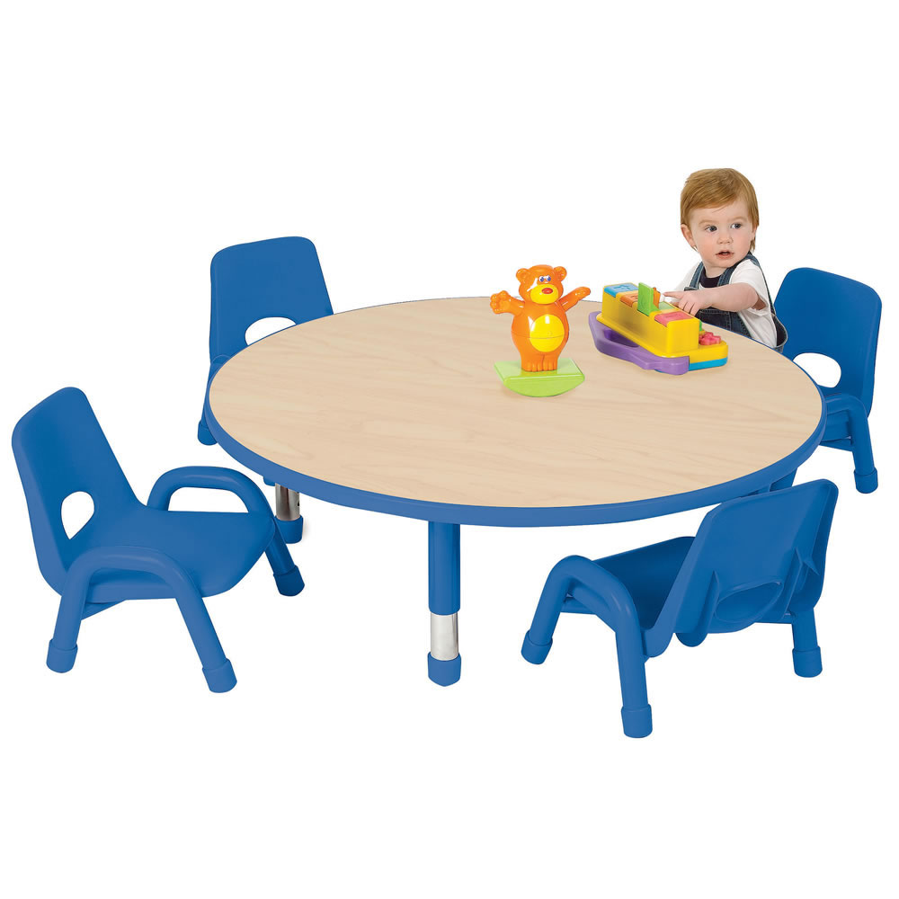"Nature Color Toddler Round Table 42"" - Seats 4 - 6-36 months"