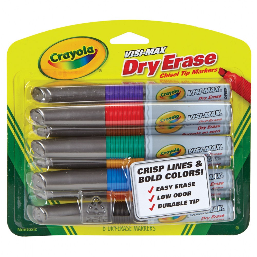 Alternate Image #1 of Crayola® Visi-Max Dry-Erase Markers