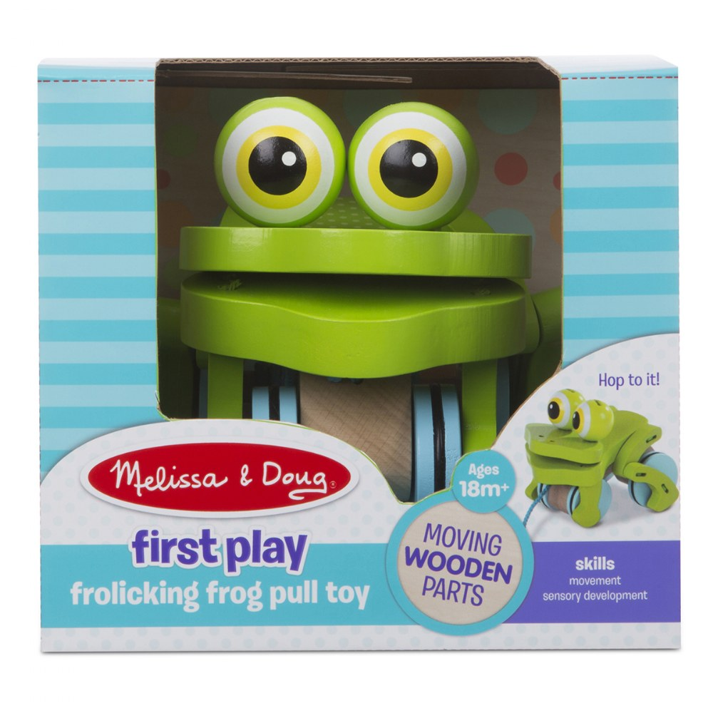 Alternate Image #3 of Frolicking Frog Pull Toy