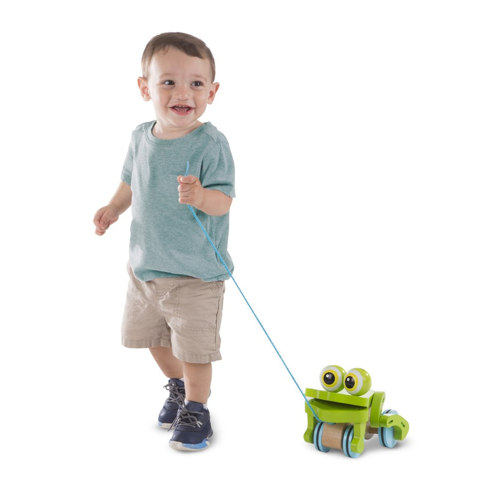Alternate Image #2 of Frolicking Frog Pull Toy