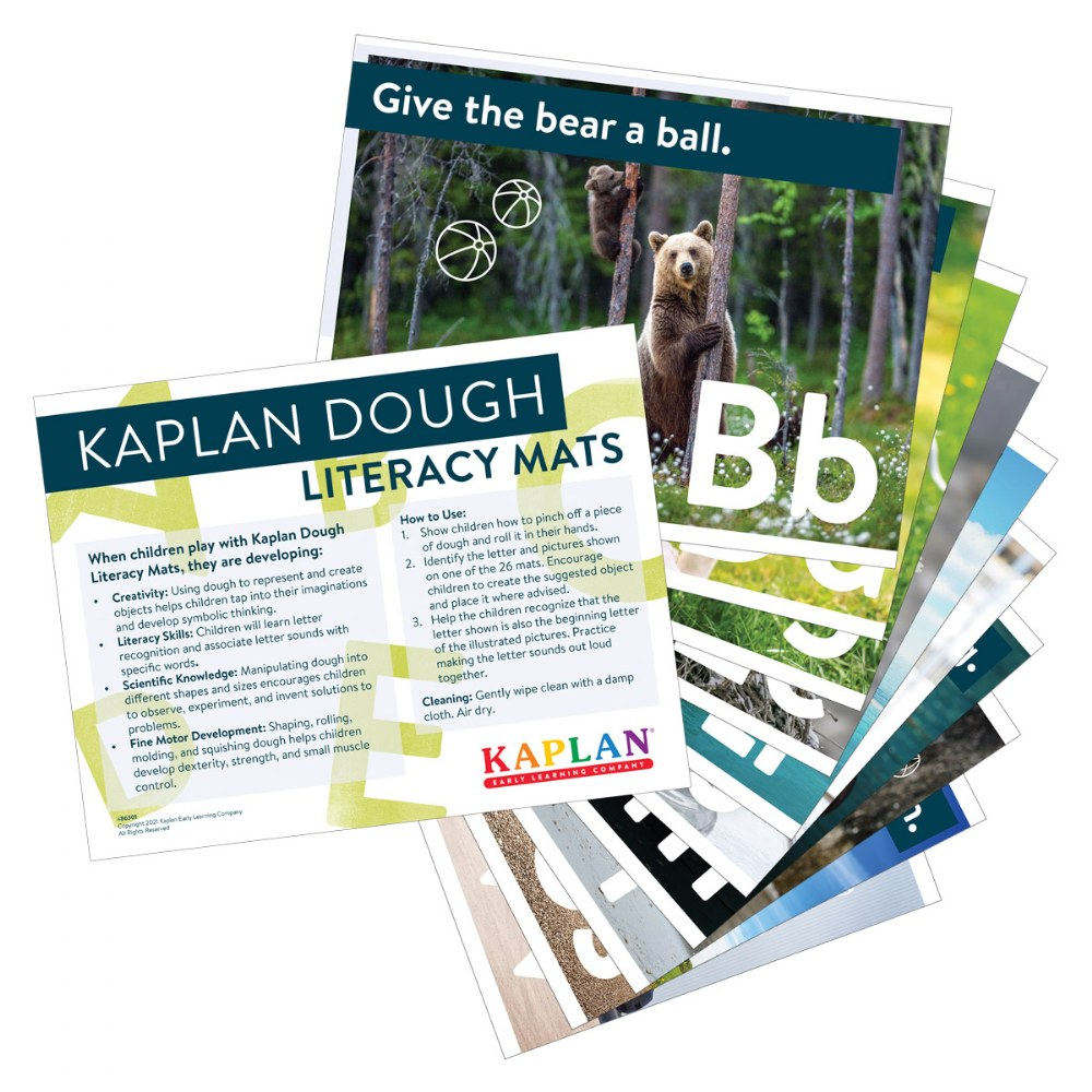 Kaplan Dough Literacy Mats - Set of 26