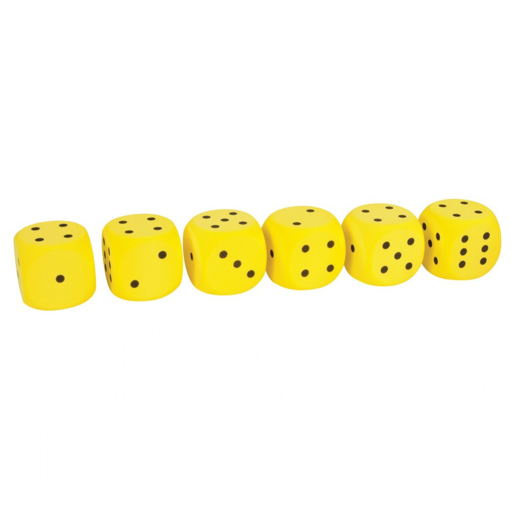 "2"" Foam Dice (6 Piece Sets)"