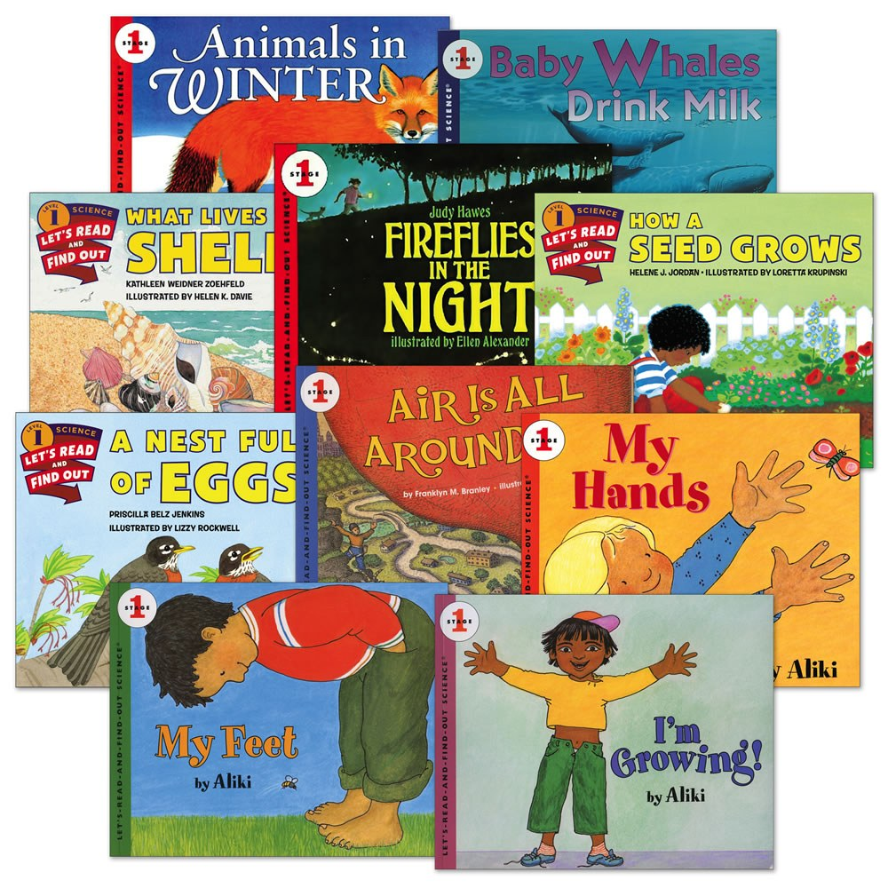 Let's Read and Find Out Science Book Set 1 - Set of 10