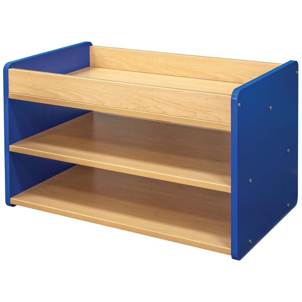 Alternate Image #1 of Toddler Pull Up 4 Bin Open Storage Center - Blue