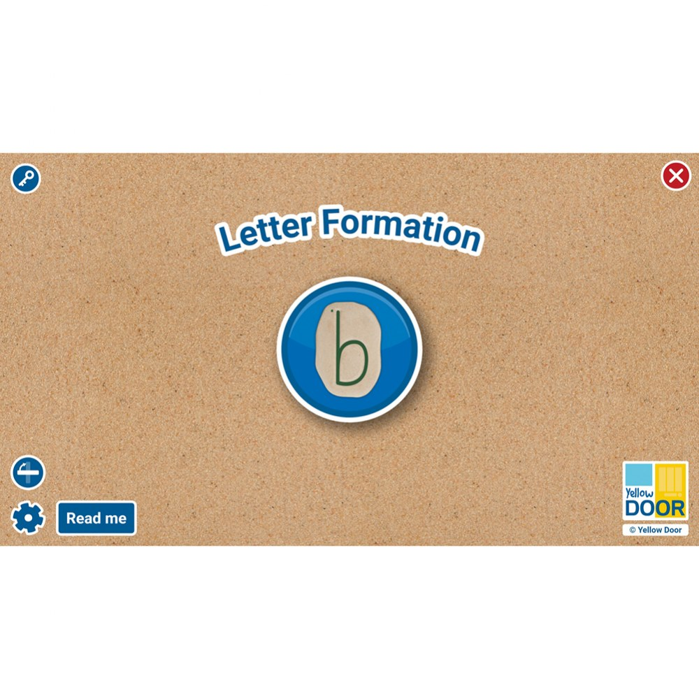 Letter Formation Software for Large Screens and Tablets