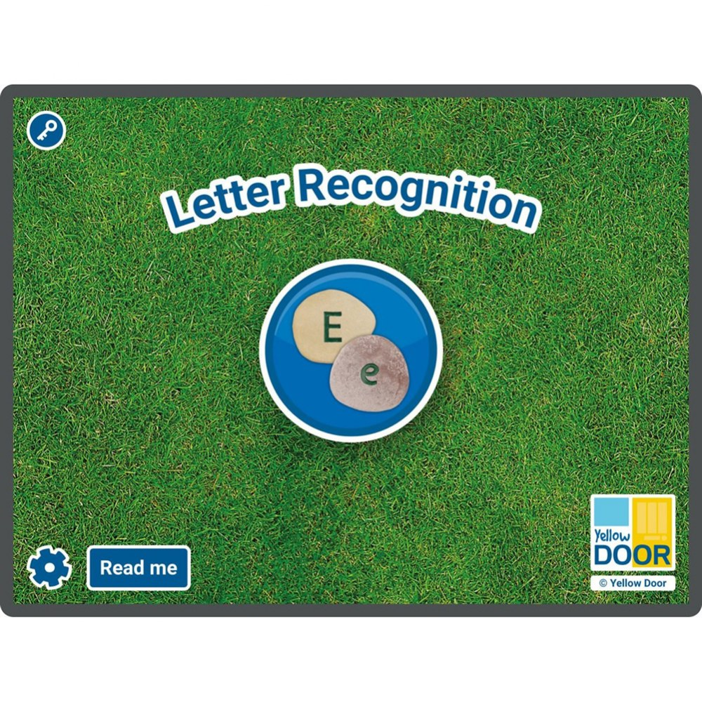 Letter Recognition Software for Large Screens and Tablets