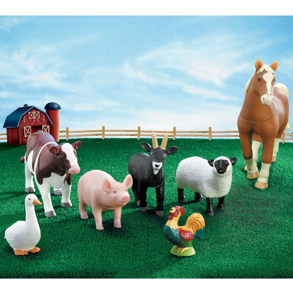 Alternate Image #2 of Jumbo Farm Animals - Set of 7