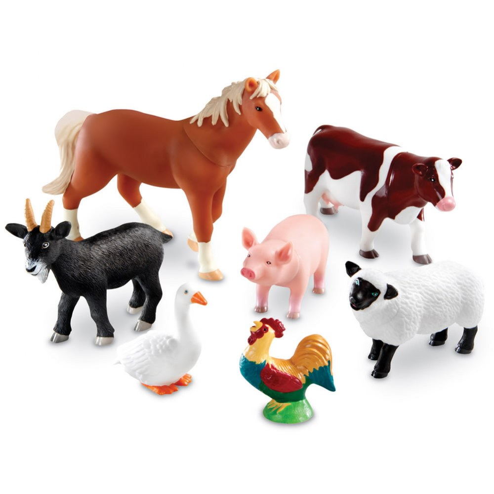 Jumbo Farm Animals - Set of 7