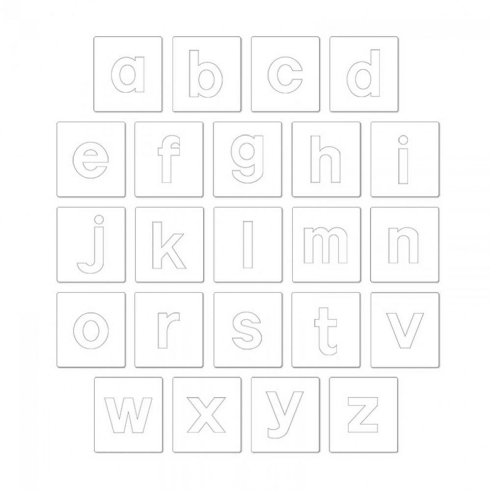 "Alternate Image #1 of Bigz Dies - 3.5"" Lowercase Block Letters - Set of 23"