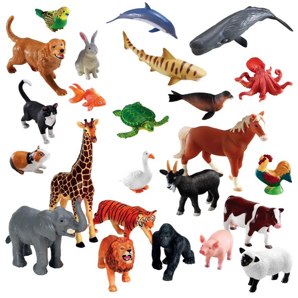 Jumbo Animals - Set of 24