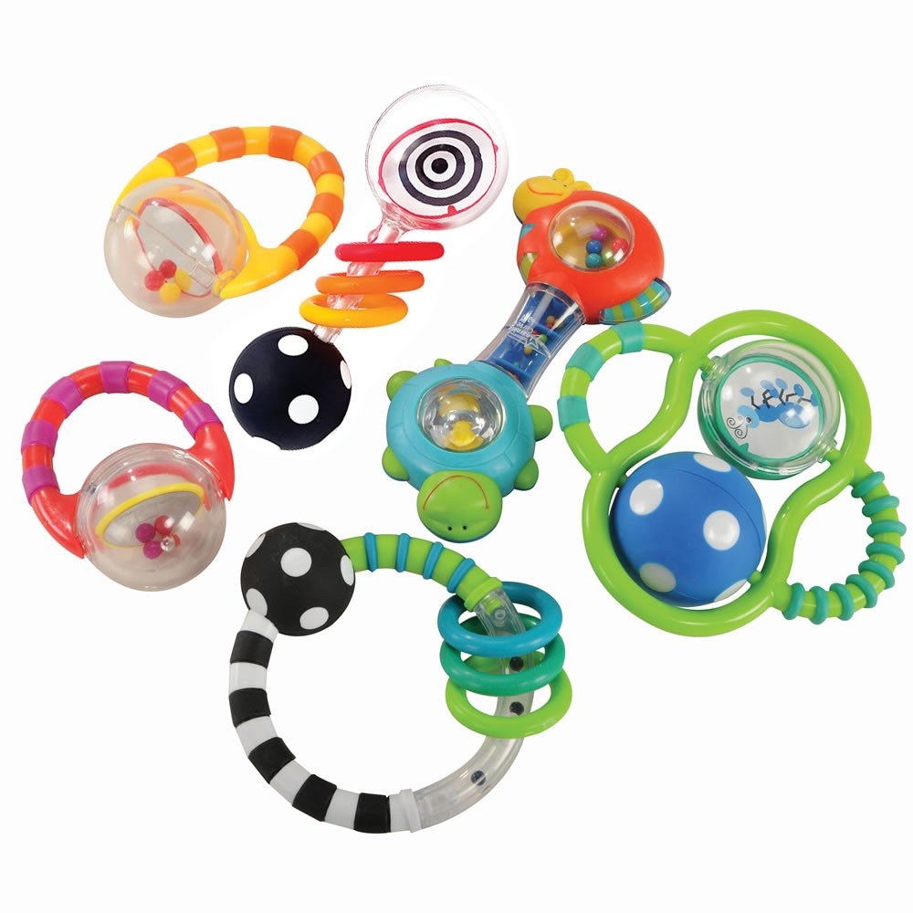 Baby Grasp & Explore Textured Rattle Set