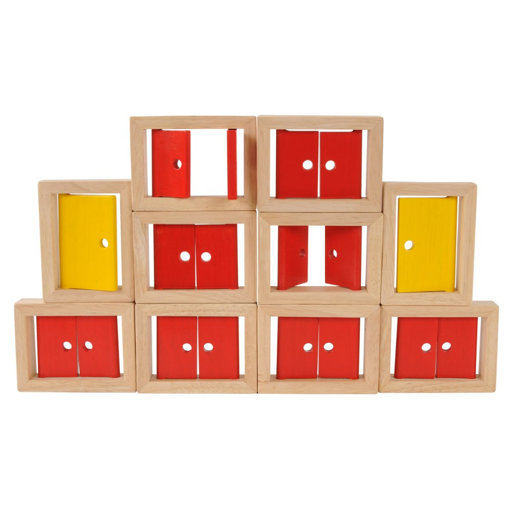 Wooden Doors and Windows - 10 Piece Set