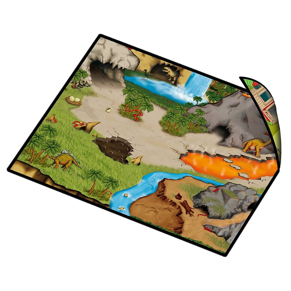 Alternate Image #3 of Zipbin Happy Farm & Dino Land Large Playmat - 2-Sided