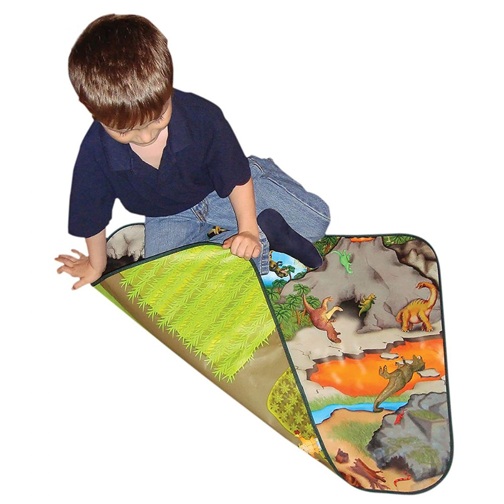 Alternate Image #2 of Zipbin Happy Farm & Dino Land Large Playmat - 2-Sided