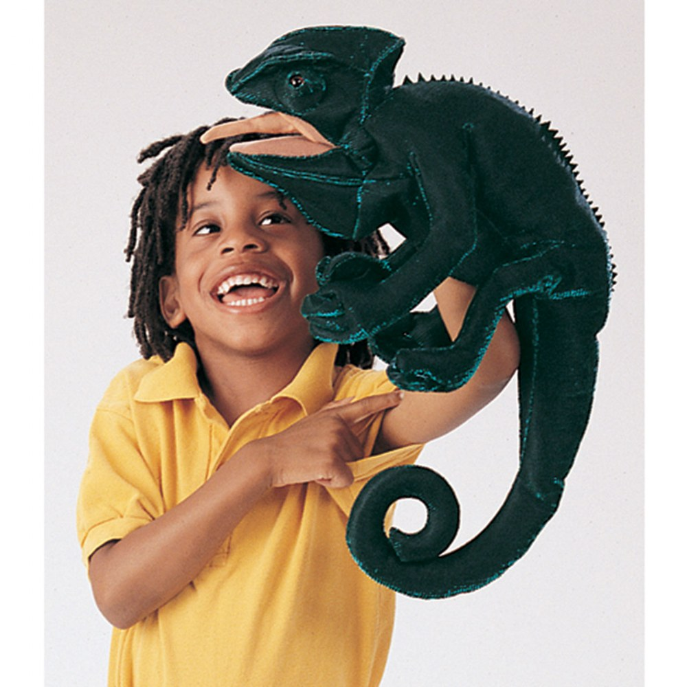 Alternate Image #1 of Chameleon Hand Puppet