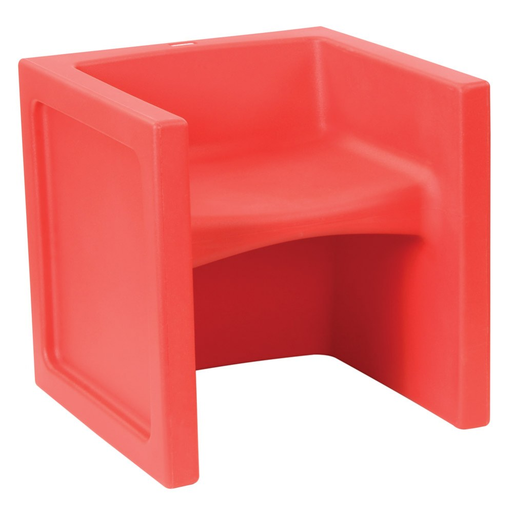 Alternate Image #1 of Cube Chair - Set of 4 - Red