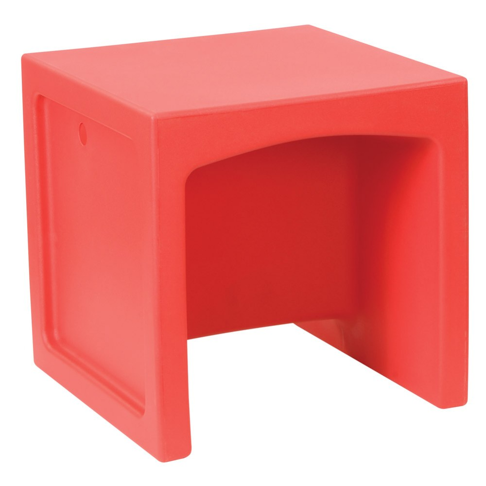Alternate Image #2 of Cube Chair - Set of 4 - Red