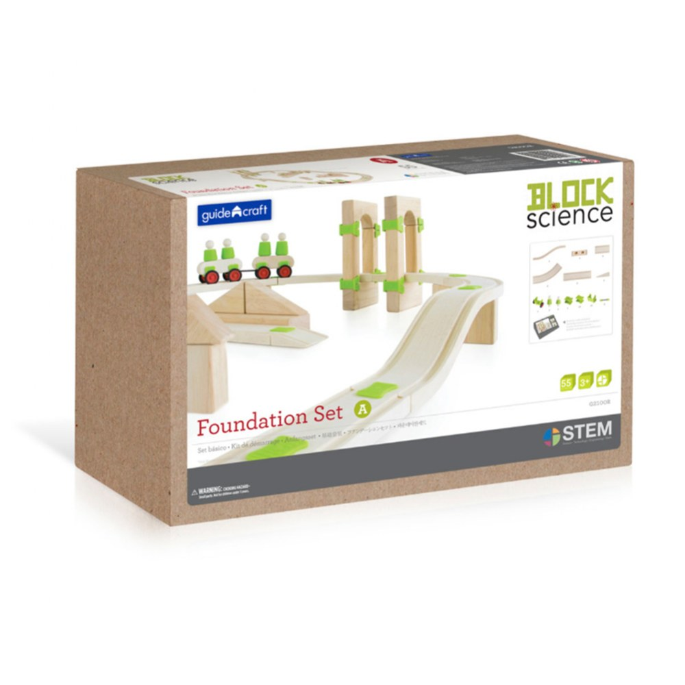 Alternate Image #8 of Block Science Foundation Set A - 55 Piece Set