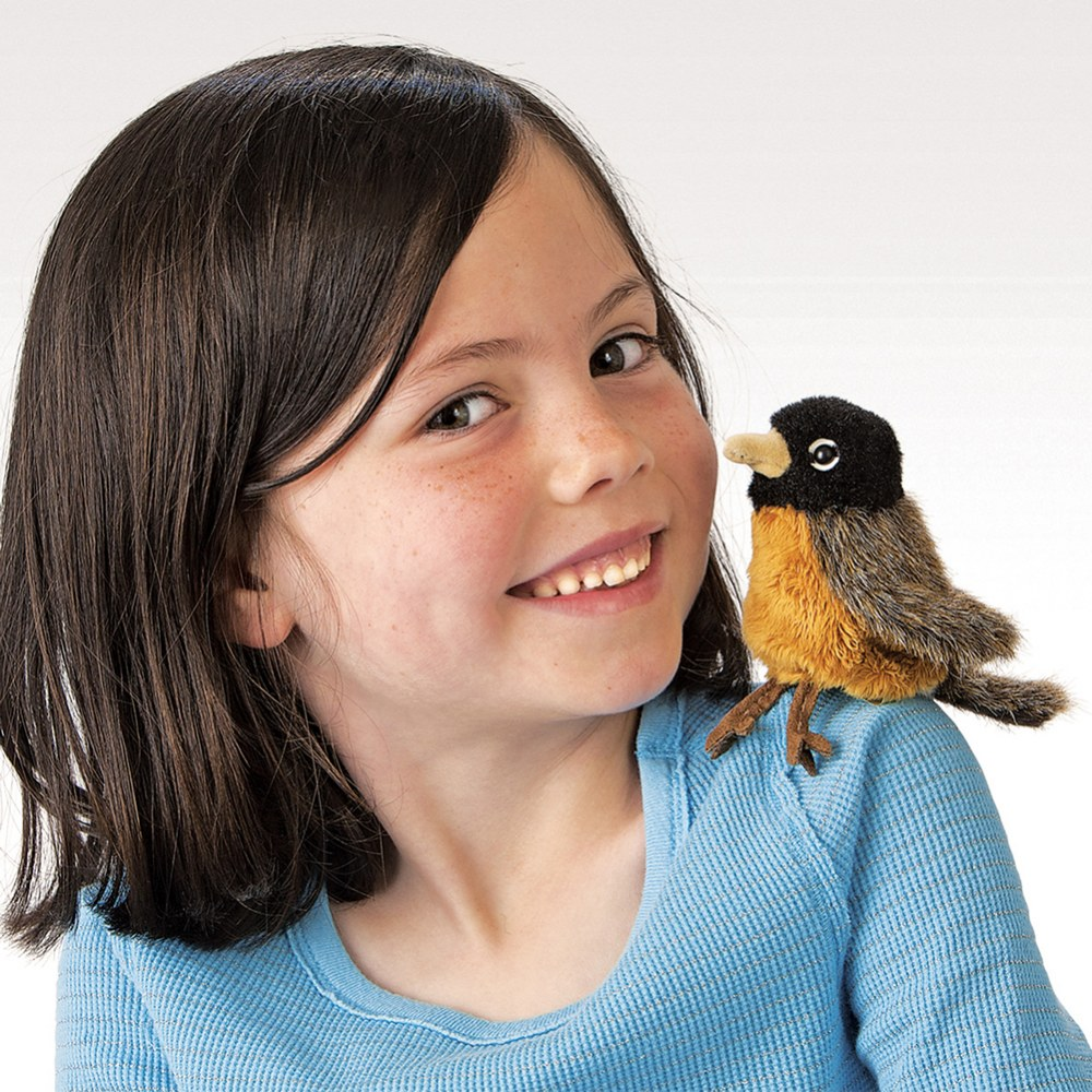 Alternate Image #2 of Mini Puppets Nature Birds, Animals and Bugs - Set of 4