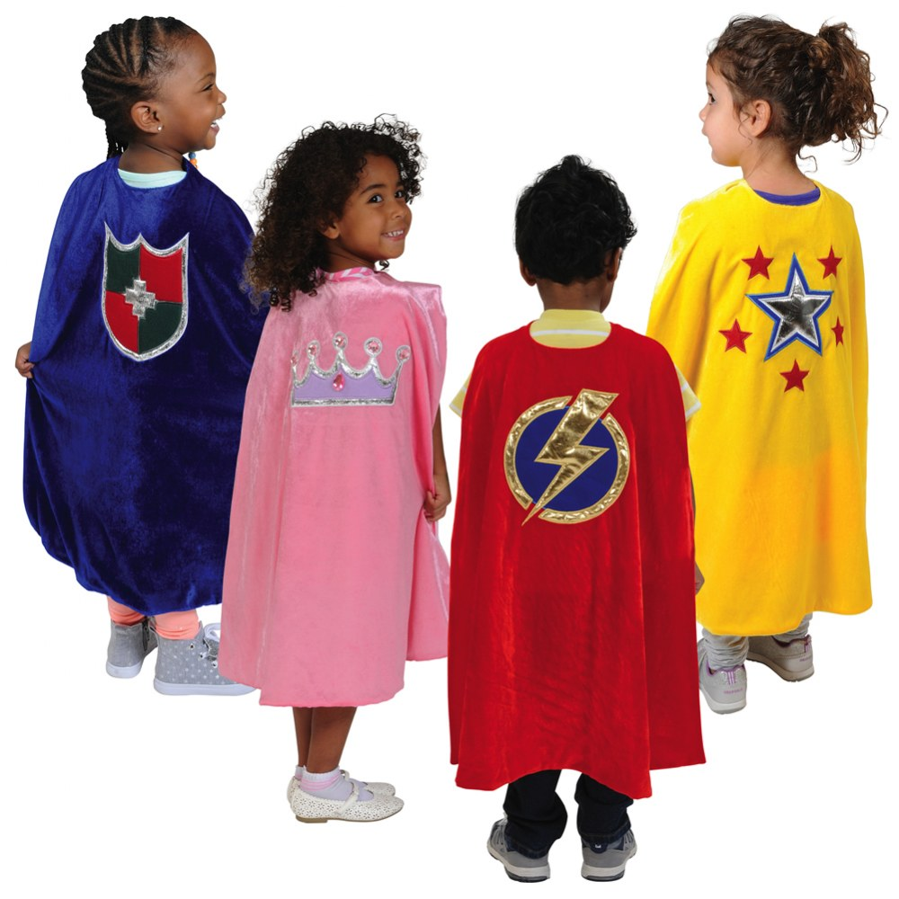 Pretend Play Adventure Capes (Set of 4 Polyester Children's Capes)