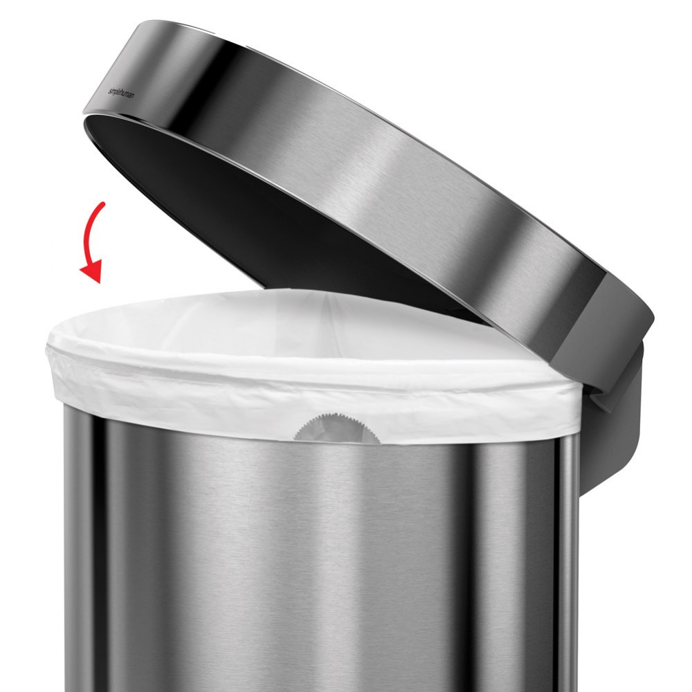 Alternate Image #2 of Semi-Round Trash Step Can