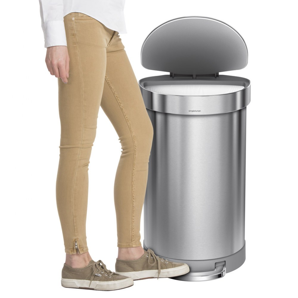 Alternate Image #3 of Semi-Round Trash Step Can