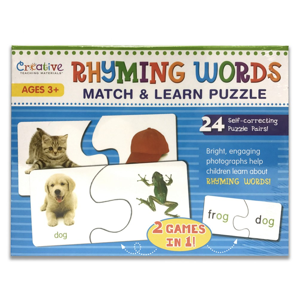Rhyming Words Match & Learn Puzzle