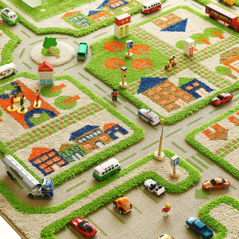 Alternate Image #3 of Traffic 3D Green Rug - 3.25' x 5'