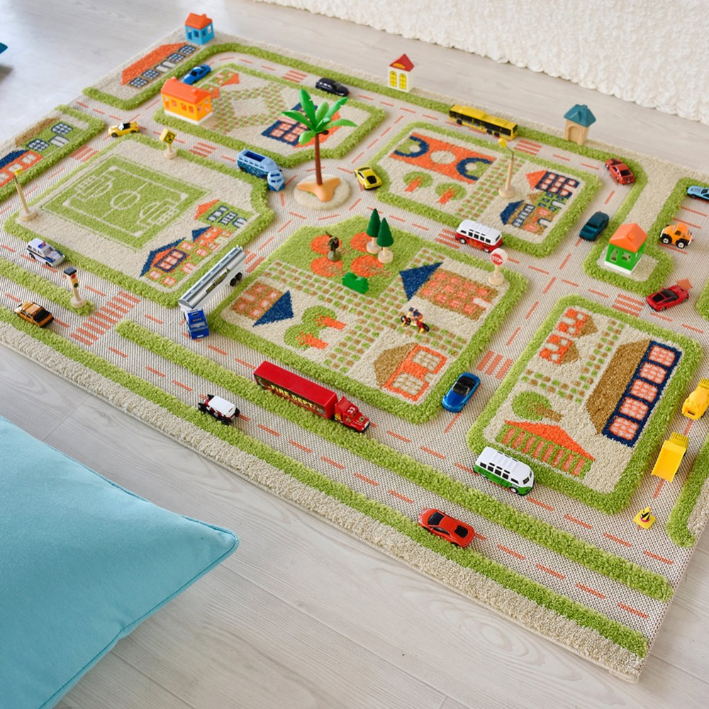 Alternate Image #8 of Traffic 3D Green Rug - 3.25' x 5'