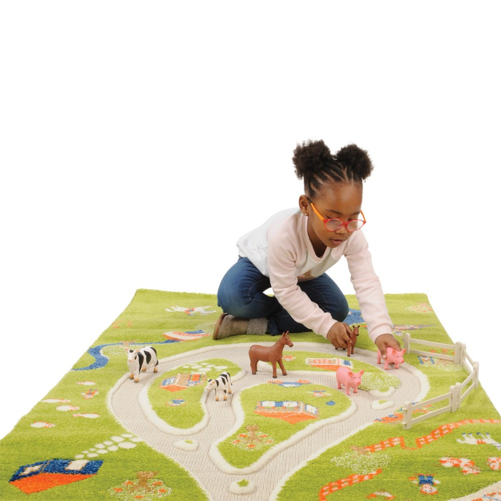 Alternate Image #1 of Farm 3D Rug - 3.25' x 5'