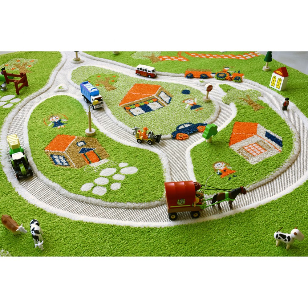 Alternate Image #3 of Farm 3D Rug - 3.25' x 5'
