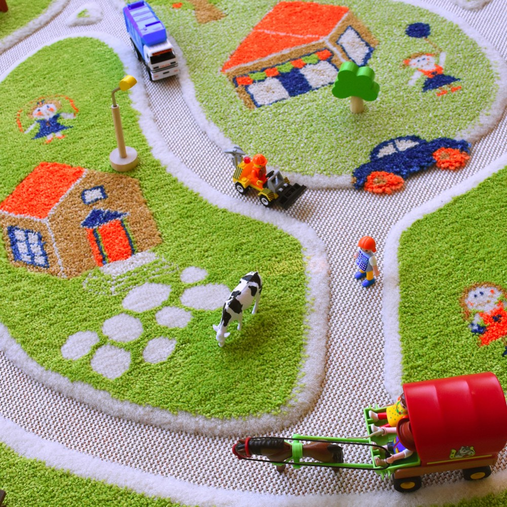 Alternate Image #4 of Farm 3D Rug - 3.25' x 5'