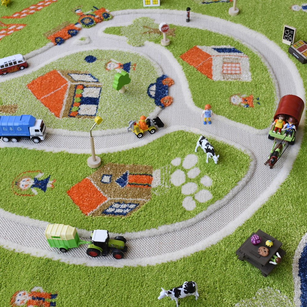Alternate Image #5 of Farm 3D Rug - 3.25' x 5'