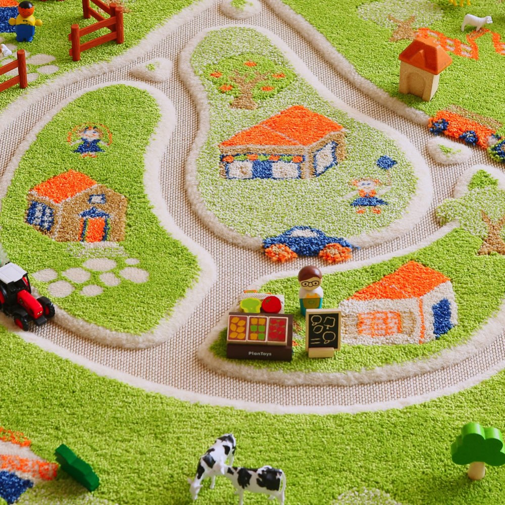 Alternate Image #6 of Farm 3D Rug - 3.25' x 5'