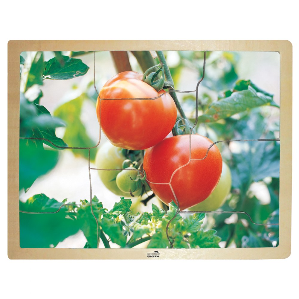 Alternate Image #1 of Fresh Vegetables Wooden Puzzles - Set of 6