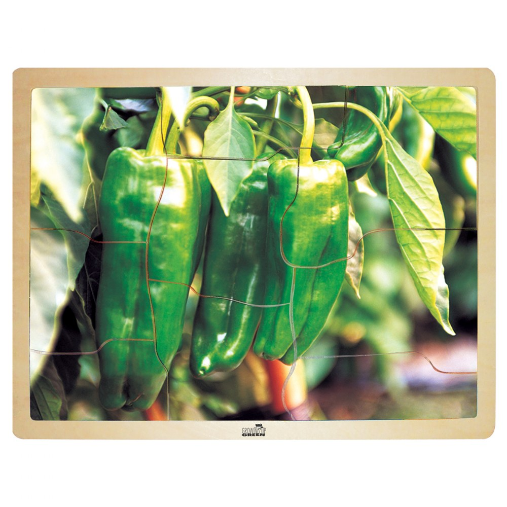 Alternate Image #3 of Fresh Vegetables Wooden Puzzles - Set of 6
