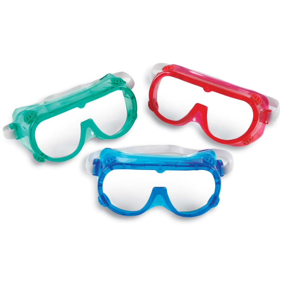 Alternate Image #1 of Children's Colorful Safety Goggles - Set of 6