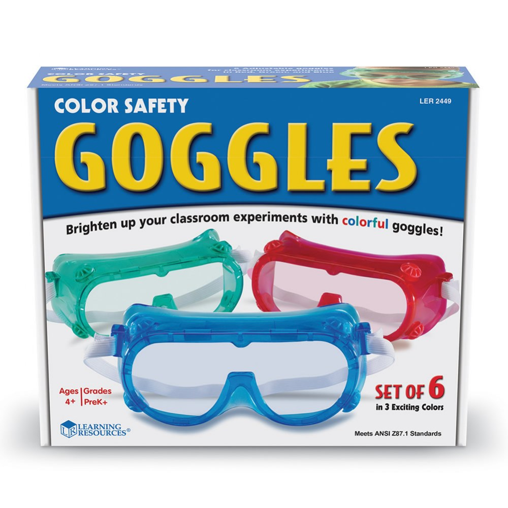Alternate Image #3 of Children's Colorful Safety Goggles - Set of 6