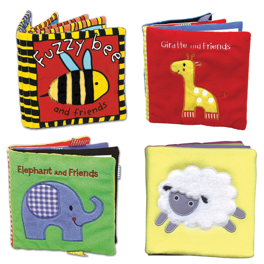 Animals All Around Cloth Books - Set of 4