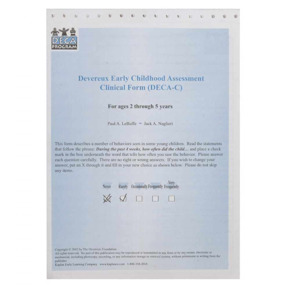 Alternate Image #4 of Devereux Early Childhood Assessment Clinical (DECA-C) Kit