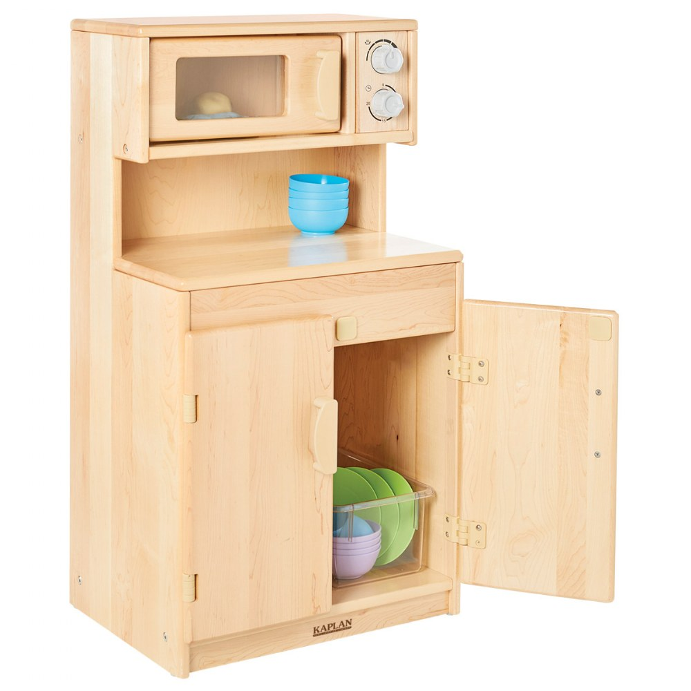 Alternate Image #1 of Premium Solid Maple Microwave and Cupboard - Factory Second