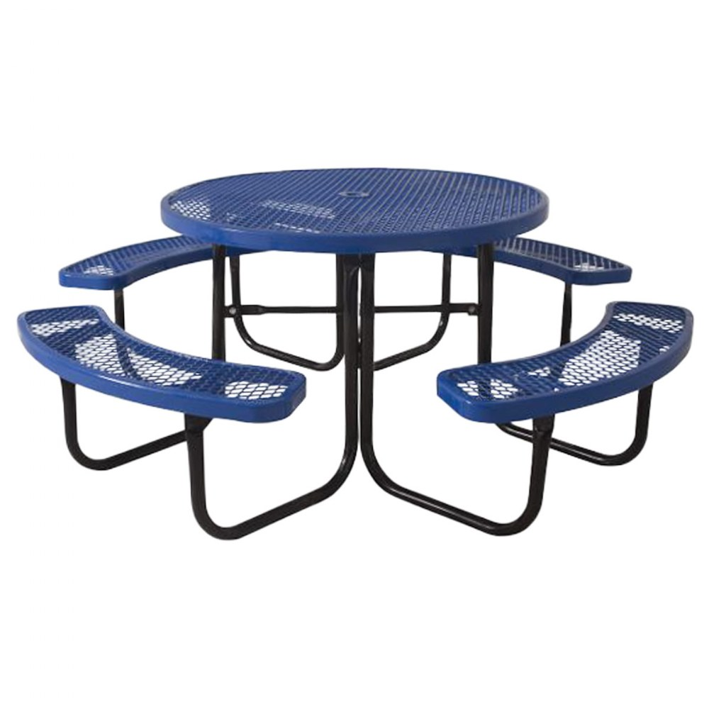Round Portable Table Perforated