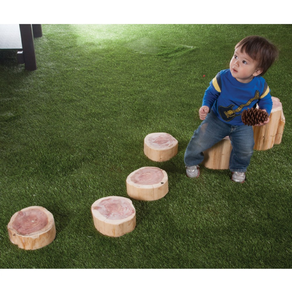 Wood Stepping Stumps - Set of 5