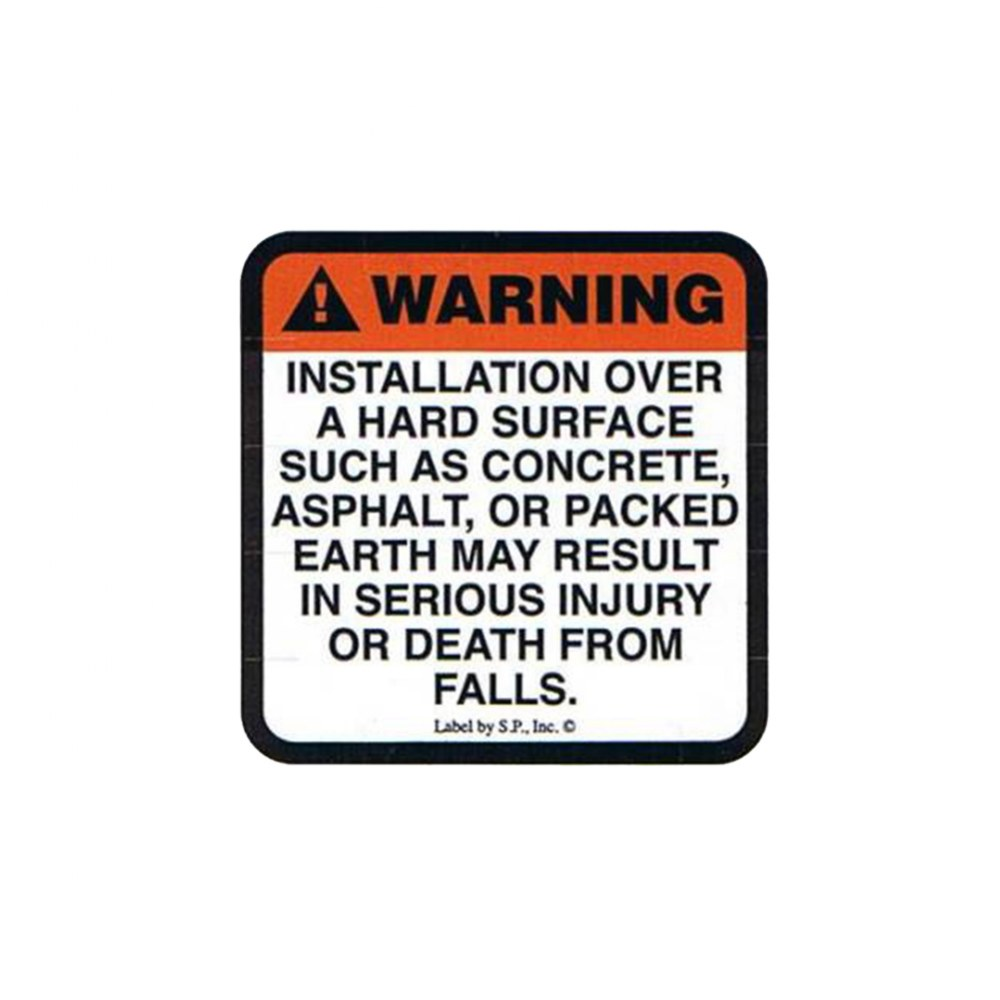 Surfacing Warning B Label