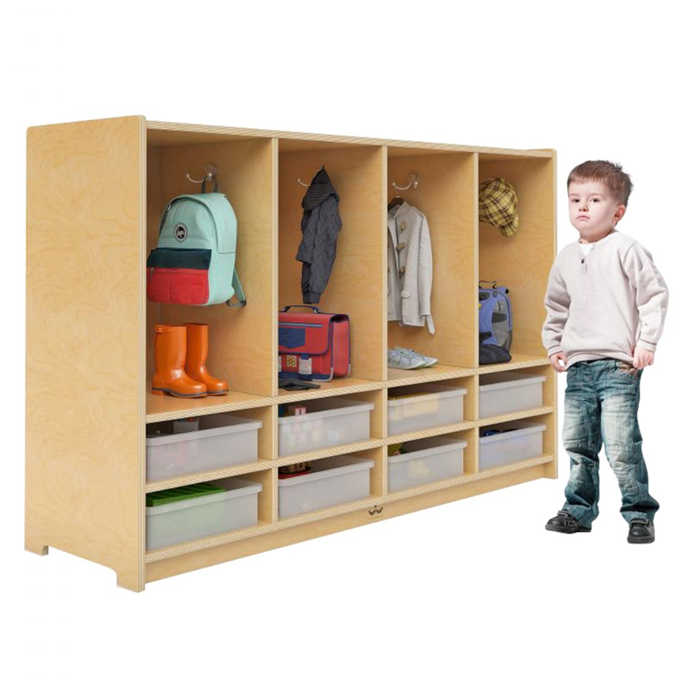 Alternate Image #1 of Toddler 8-Section Coat Locker with Trays