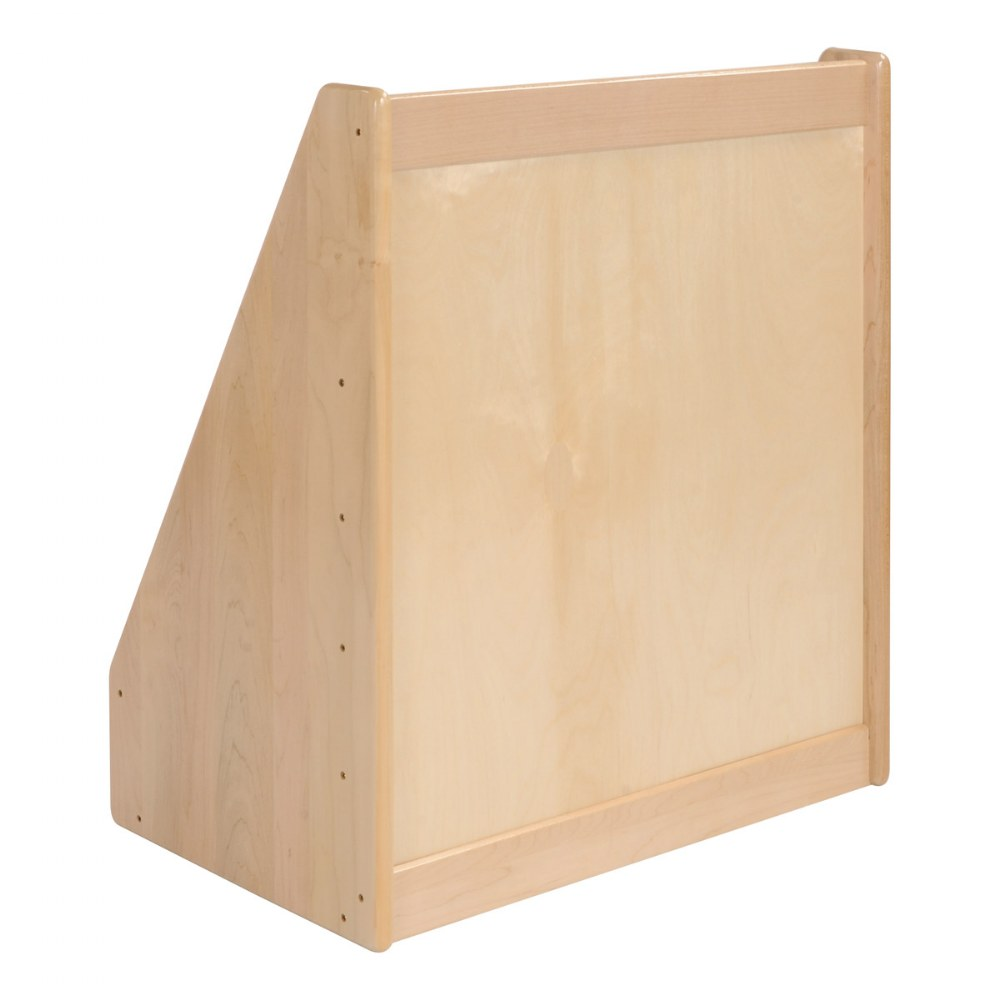 "Alternate Image #1 of Premium Solid Maple Small 24"" Wide 5-Shelf Book Display"