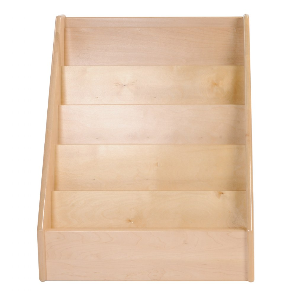 "Alternate Image #2 of Premium Solid Maple Small 24"" Wide 5-Shelf Book Display"