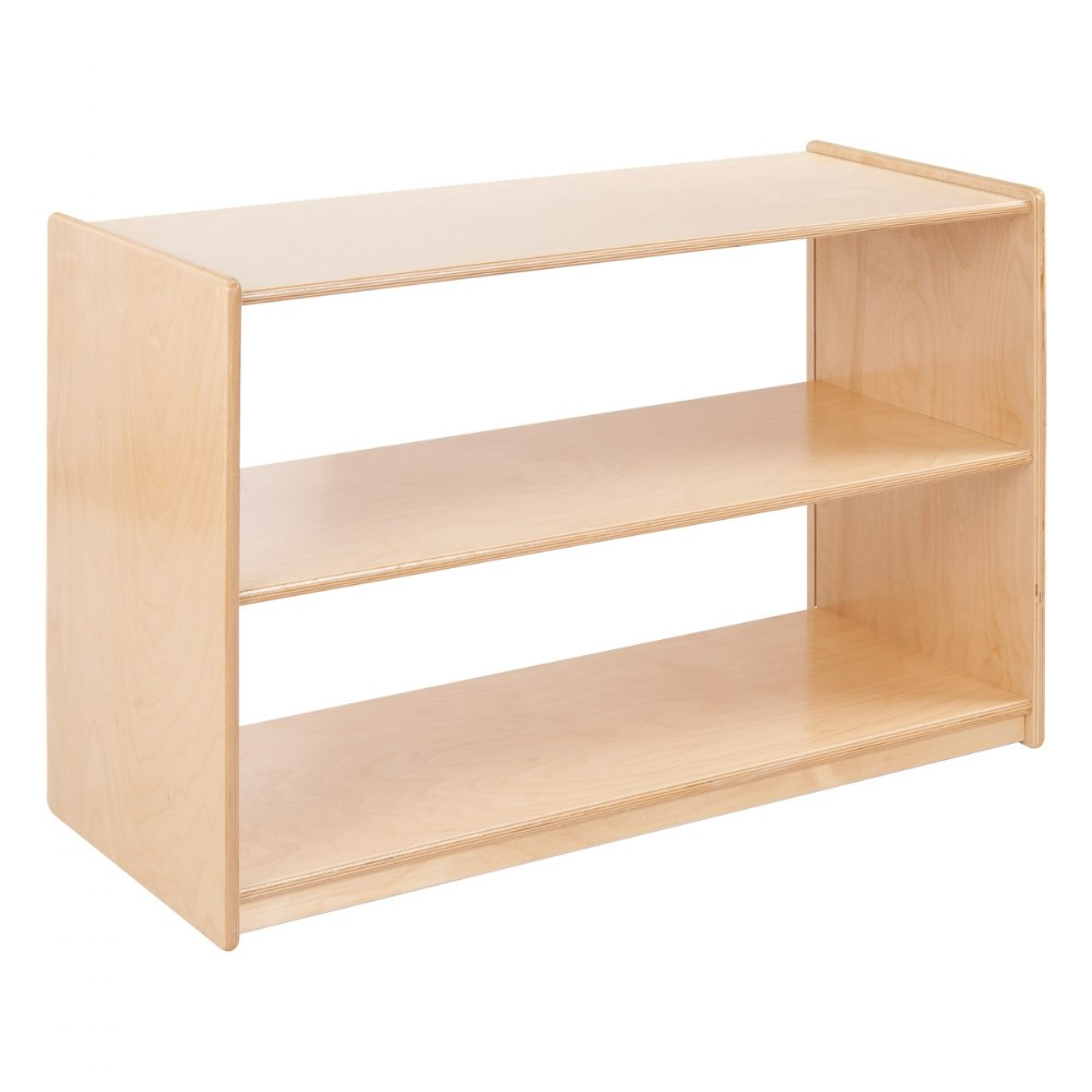 Two Shelf Storage Unit - Acrylic Back